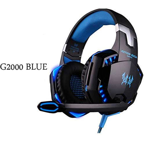 Gaming Headsets Big Headphones with Light Mic Stereo Earphones Deep Bass for PC Computer Gamer Laptop PS4 New X-Box Nintendo Games (Open Sennheiser Air)