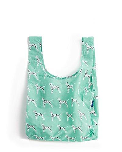 BAGGU Standard Reusable Shopping Bag, Eco-friendly Ripstop Nylon Foldable Grocery Tote, Dalmatian