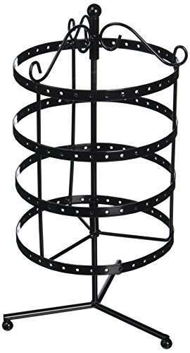 "DARICE 4 Tier Round Metal Spinner Earring Rack 6.5""X6.3""X..."