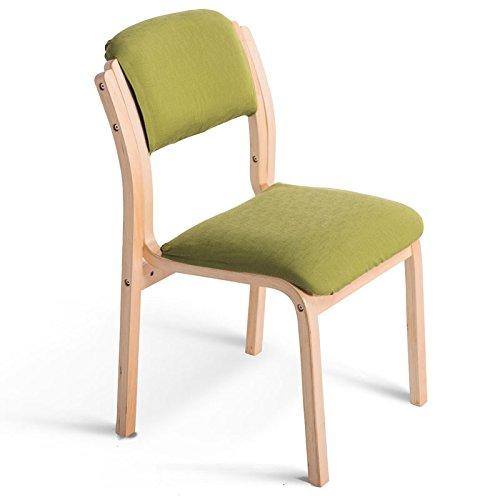 ダイニングチェアリビングルームレストランゲストルームベッドルームキッチンウッドモダンシンプルな北ヨーロッパファッションチェア (色 : 緑, サイズ さいず : Set of 4) B07F16PBP4 Set of 4|緑 緑 Set of 4