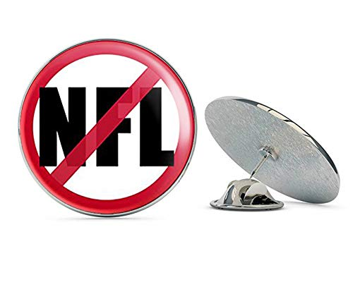 NYC Jewelers Round NO NFL (Anti Football League Flag Anthem Sign Symbol) Metal 0.75