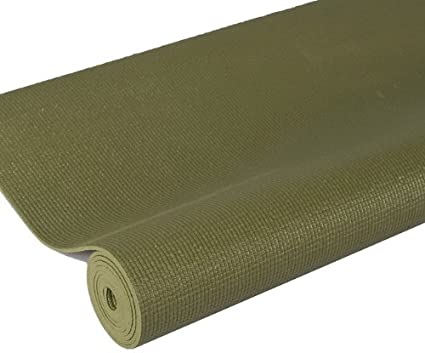 j/fit Premium Sticky Yoga Mat, 68-Inch, Olive