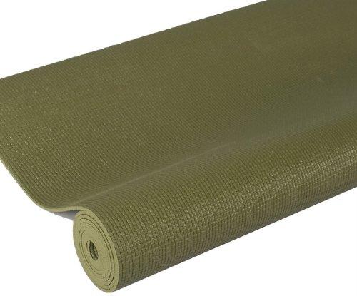 j/fit Premium Sticky Yoga Mat, 68-Inch, Olive