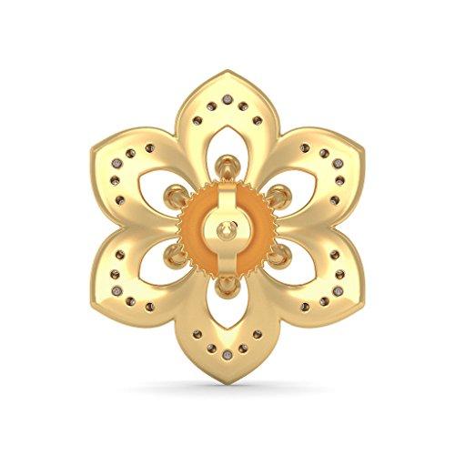 Or jaune 18K 0,23carat au total White-diamond (IJ | SI) Boucles d'oreille à tige