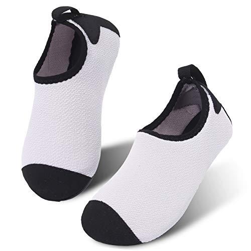 JIASUQI Fashion Barefoot Boating Aqua Water Shoes Socks Beach Sandals White US 8-8.5 M ()