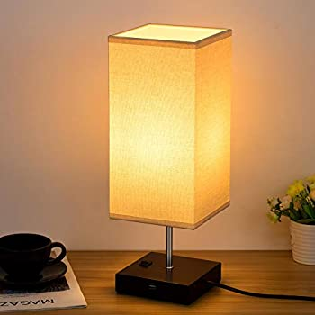 Table Lamps With Usb Charging Port Solid Wooden