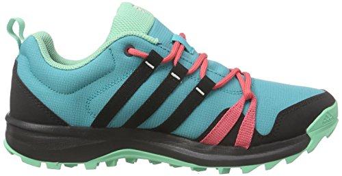 adidas Tracerocker W, Zapatillas de Deporte para Mujer, Multicolor Verde / Negro (Verimp / Negbas / Rubsup)