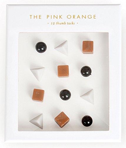 0019E Thumb Tacks, Black, White and Copper ()