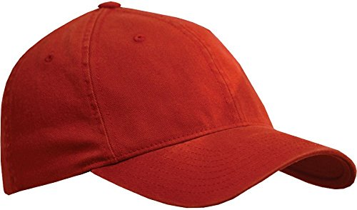 ent Washed Twill Cap_Red_Small / Medium (Bio Washed Twill Cap)
