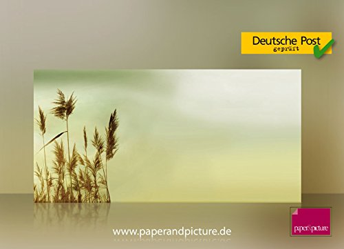 Autumn Colored Grasses - Autumn Gras Blades 10 High Quality Envelopes, Completely Printed