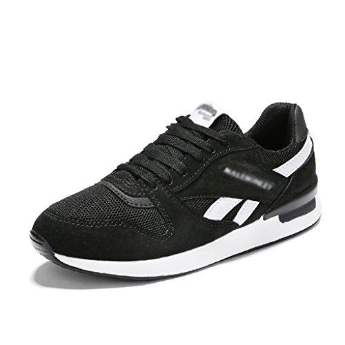 Zapatos Femeninos planos transpirable 38 Zapatos de Zapatos mujer Tamaño Deportes mujer para HWF Gris Zapatos Color malla de primavera de corrientes Negro ocasionales qCIvw6X6d