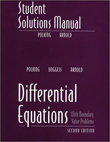 Student solutions manual for differential equations john polking student solutions manual for differential equations john polking al boggess david arnold 9780131437395 amazon books fandeluxe Image collections