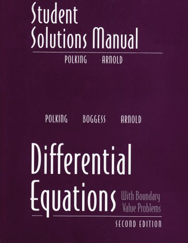 Student Solutions Manual for Differential Equations