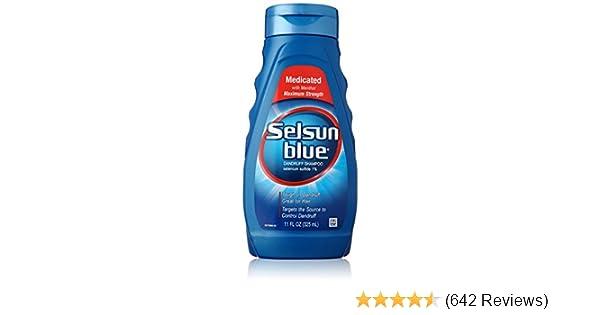 amazon com selsun blue medicated maximum strength dandruff shampoo