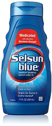 Selenium Sulfide Dandruff - Selsun Blue Medicated Maximum Strength Dandruff Shampoo, 11 Ounce