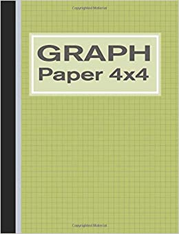 graph paper 4x4 quad rule 1 4 inch squares notebook green