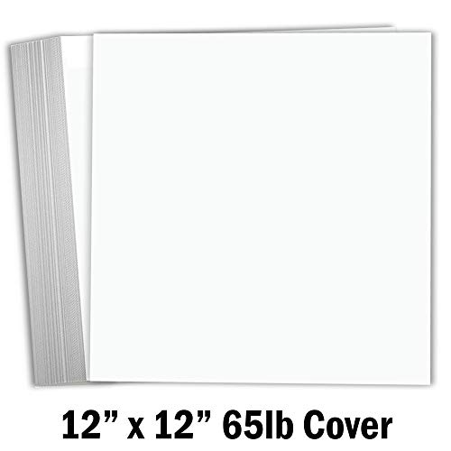 - Hamilco White Cardstock Scrapbook Paper 12x12 65lb Card Stock - 25 Pack