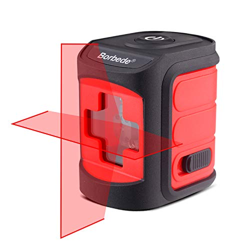 Boebede Laser Level Horizontal and Vertical Cross Lines Self-Leveling Portable Mini Level Meter Red Beam ...