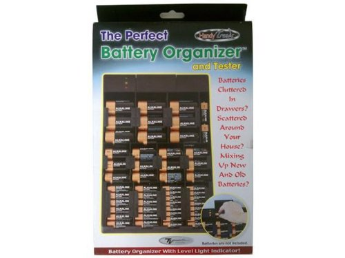 The Perfect Battery Organizer and Tester(TM) by Handy Tre...