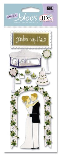 A Touch of Jolee's I Do Wedding Dimensional Stickers, Garden Nuptials