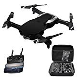 Toxz GW-1 2.0MP Camera WiFi FPV Foldable Selfie Drone RC Quadcopter Altitude Hold with Storage Bag,Headless Mode,LED Light,Gesture Photo etc