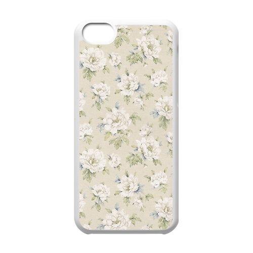 FDXGW587 iPhone 5c Cell Phone Case-white_Retro Flower (12)