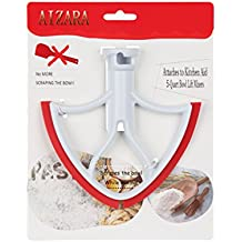 Flat Beater Blade with Flex Edge Bowl Scraper for KitchenAid 4.5 and 5 Quart Tilt-Head Stand Mixer, USA Design