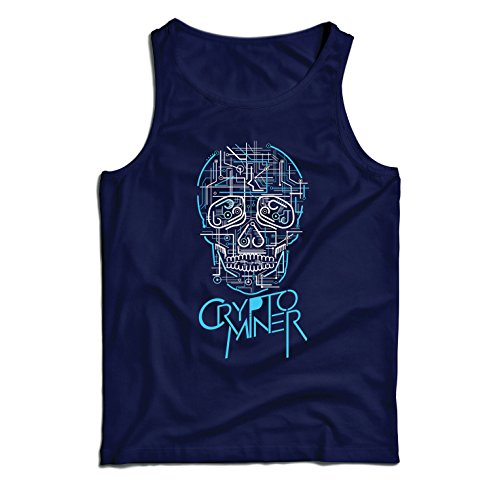 lepni.me Vest Crypto Miner - Cryptocurrency - Bitcoin Ethereum, Blockchain Mining algorithms (Small Blue Multi Color)