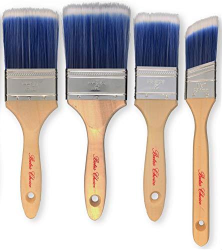 Bates Paint Brushes – 4 Pack, Wood Handle, Paint Brush, Paint Brushes Set, Professional Wall Brush Set, House Paint…