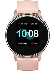 Reloj inteligente, UMIDIGI Uwatch 2S Fitness Tracker Monitor de ritmo cardíaco, rastreador de actividad con visualización táctil de 1.3 pulgadas, podómetro impermeable de 5 ATM, monitor de sueño para iPhone y Android.