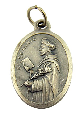 - Religious Gifts Silver Toned Base Catholic Saint Dominic Patron of Astronomy Medal Pendant, 1 Inch