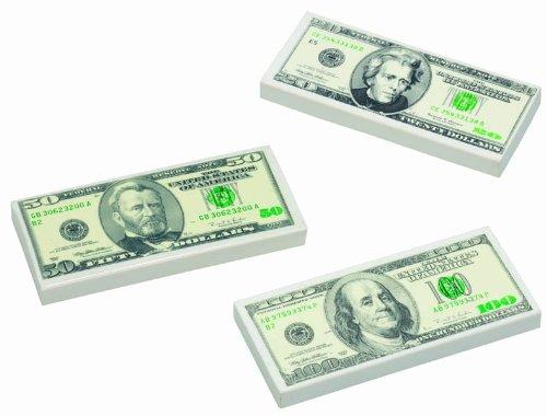 100 Dollar Bill Eraser, 72 count by J. Rousek (Image #2)