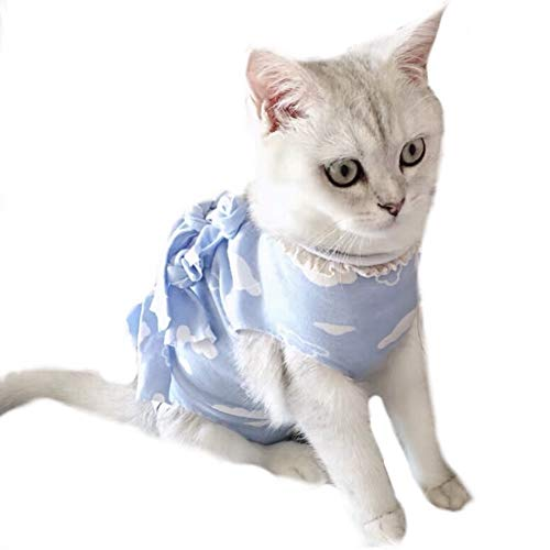 Stock Show Recovery Suit for Cats Cotton Breathable E-Collar Alternative for Cats and Dogs, After Surgey Wear