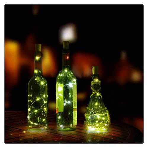 Kanzd 8LED Copper Wire Wine Bottle Cork Shape Light Starry Light Wedding Decor -