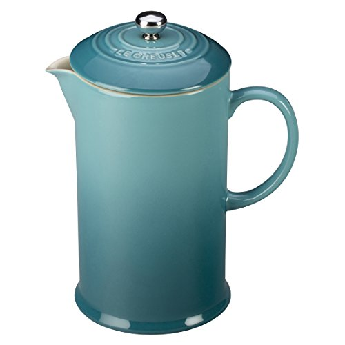 le-creuset-stoneware-27-ounce-french-press-caribbean