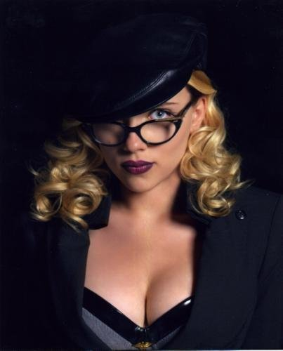 (Scarlett Johansson Poster Sexy Glasses #01B 11x17 Master Print)