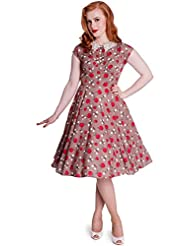 Hell Bunny Francine 40s 50s Apples Vintage Tea Party Dress Regular & Plus Size
