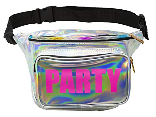 (Funny Guy Mugs Holographic Party Fanny Pack- Premium Fanny Pack)