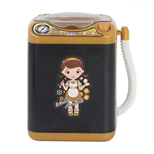 heavKin--Watch Band Super Cute Makeup Brush Cleaner Device Automatic Cleaning Washing Machine Mini Toy (Black Girl Sticker) (Black)