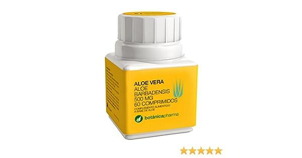 Aloe vera Botanica Pharma 500 mg 60 comprimidos: Amazon.es: Salud y cuidado personal