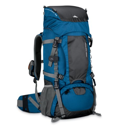 High Sierra Explorer 55 Frame Pack (Pacific, Tungsten), Outdoor Stuffs