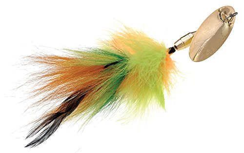 Panther Martin PMMK-28-GFT Marabou and Bucktail Muskie Spinner Bait, 30 (1.5-Ounce), Gold Fire Tiger