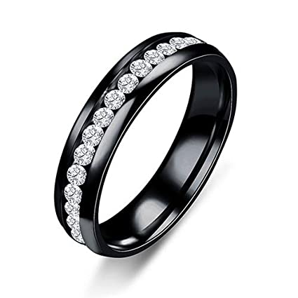 JEWH Titanium Steel Engagement Wedding Rings for Women and Men - Stainless Steel Ring Jewelry -