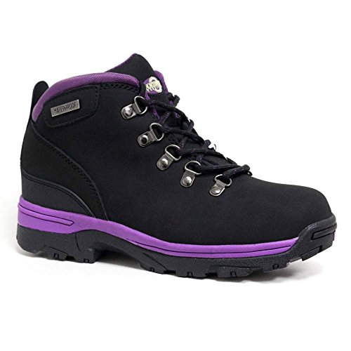 Black Up NorthWest Womens Boots Walking Purple Trek Hiking WaterProof Lace Leather xHP7Hwq