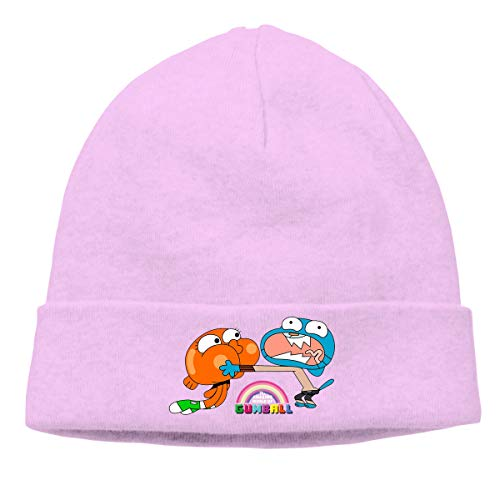 MUtang The Amazing World of Gumball Brother Skull Hats Knitted Cap Beanie Pink ()