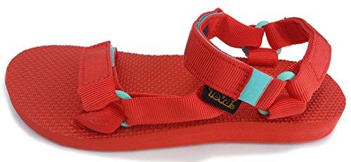 Teva Women's Original Universal Athletic Sandals, Red Canvas, 11 M (Athletic Canvas Sandals)
