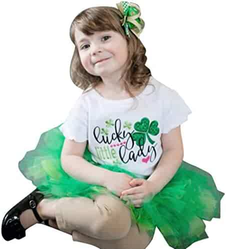 bcc968292c7 Baby Dress Tronet Toddler Baby Girls Short Sleeve St. Patrick s Day  Tops+Skirts+