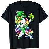 Saint Patrick's Day T Shirts: Dabbing Unicorn Lucky Shamrock