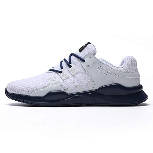 Blanc bleu LOVDRAM Chaussures Hommes Chaussures De Printemps Pour Hommes Chaussures De Course Chaussures Tissées Volantes Wild Fashion Chaussures De Sport Pour Hommes Chaussures De Sport Mode Chaussures De Voyag