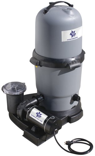 Waterway BS5205140-6S Blue Star Clearwater II Cartridge Filter System with 1.5 HP Pump, 100 Square Feet by Waterway